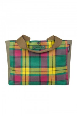 Ettrick shoulder tote bag in MacMillan Old Ancient tartan