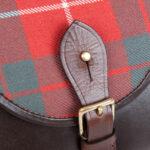 The Strathearn Saddle Bag (Brown Leather & Hamilton Tartan)