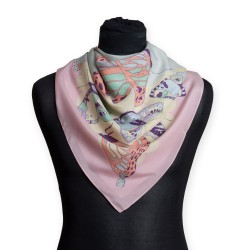 The Emma Silk Scarf (Pastel Butterflies)