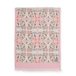 The Emma Silk Scarf (Long with Pastel Butterflies)