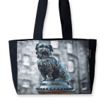 Greyfriars Bobby Black Cotton Canvas Tote Bag