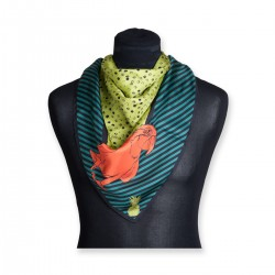 The Emma Silk Scarf (Orange Parrots)