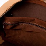 Tobacco suede lining in Appin Ladies leather bag - camel
