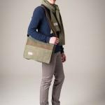 Harris Tweed satchel messenger bag and scarf