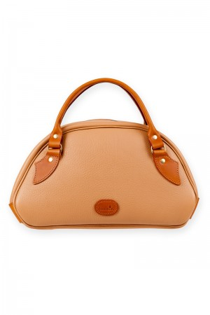 Appin ladies leather bag - camel