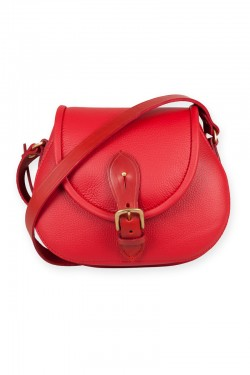 Our Strathearn saddle bag now comes in bright red leather.