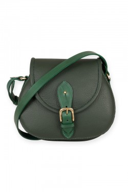 Strathearn Saddle bag in green leather