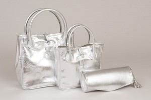 Silver party bags from Dunmore Scotland