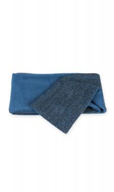 Blue Harris Tweed scarf
