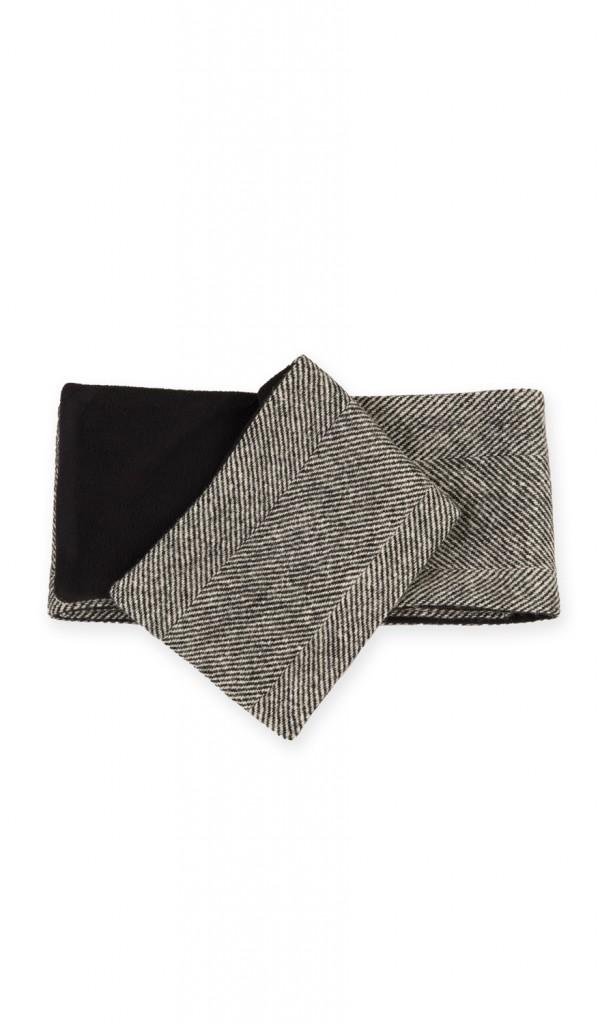 Harris Tweed scarf with black fleece lining