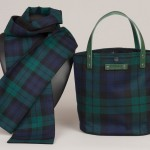 Matching scarf and bag in Black Watch tartan