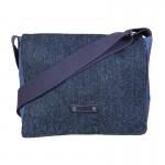 navy blue harris tweed satchel
