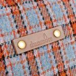 Orkney Harris Tweed Satchel leather detail