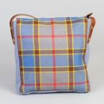 Ancient Balfour tartan satchel made in Scotland