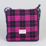 Pink Harris Tweed satchel