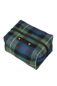 Toilet bag in Mackenzie tartan
