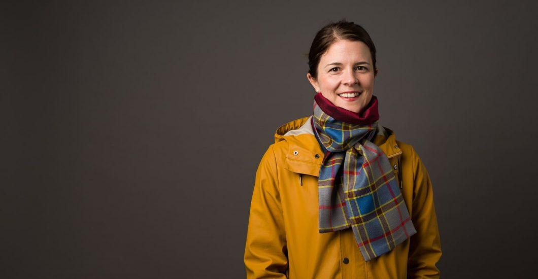 Tartan scarf, ancient balfour tartan, plaid scarf, made in Scotland